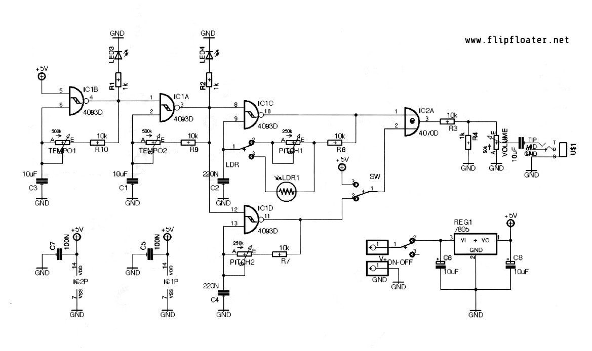 Circuit Diagram Additionally Electronic Hobby Circuits Schematics